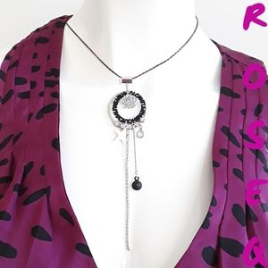 Crown star diamond fashion necklace